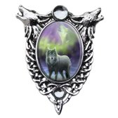 Anne Stokes Cameo Pendant Aura Wolf