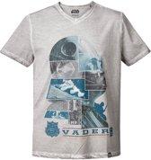 Star-Wars-T-shirt-met-korte-mouw-grijs-maat-M