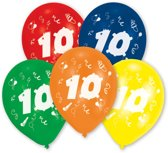 10 Latex Balloons Number 10 25.4 cm/10