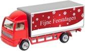 Leuk kado met naam model vrachtwagen tekst - rood