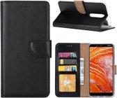 Nokia 3.1 Plus - Bookcase Zwart - portemonee hoesje