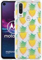Motorola One Action Hoesje Pineapple