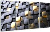 Glasschilderij Modern   Grijs, Geel   160x80cm 4Luik   Foto print op Glas    F004304