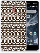 Nokia 2.1 (2018) Uniek TPU Hoesje Aztec Brown