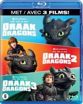 DVD cover van Hoe Tem Je Een Draak 1 t/m 3 (Blu-ray)