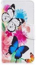 Samsung Galaxy A40 Hoesje - Wallet Case Gekleurde Vlinders - Shop4