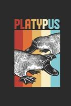 Platypus Retro: Platypuses Notebook, Dotted Bullet (6'' x 9'' - 120 pages) Animal Themed Notebook for Daily Journal, Diary, and Gift