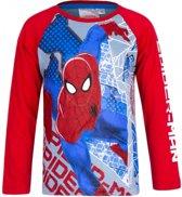 Spiderman t-shirt grijs met rood 104
