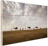 Woestijn India  Hout 80x60 cm - Foto print op Hout (Wanddecoratie)