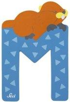 Sevi Letter M Dier 10 Cm Blauw