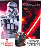 Star Wars strandlaken kinderen 70x140 | set 2 stuks + rugzak | set badhanddoeken | BS15