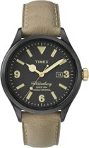 Timex The Waterbury TW2P74900 - Horloge - Leer - Grijs - Ø 42 mm