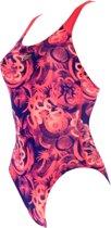 Speedo Allover Splashback V1  Badpak - Meisjes - roze/paars - maat 116