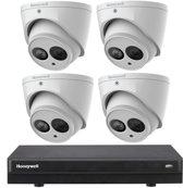 Honeywell beveiligingscamera set met recorder en 4 camera's