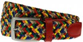 Summertime multicolor webbing riem - Maat: 85 cm