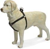Beeztees - Borsttuig Hond - MacLeather - Zwart - S - 35-60 cm