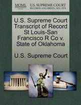 U.S. Supreme Court Transcript of Record St Louis-San Francisco R Co V. State of Oklahoma