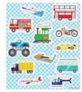 Stickervel voertuigen stickers 10x