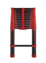 Telescopische ladder - 15 Treeds - Werkhoogte 4.40m - Black,Aluminium
