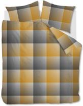 Beddinghouse Graham - Flanel - Dekbedovertrek - Eenpersoons - 140x200/220 cm + 1 kussensloop 60x70 cm - Ochre
