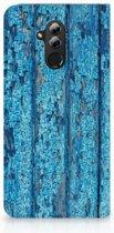 Huawei Mate 20 Lite Uniek Standcase Hoesje Wood Blue
