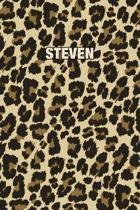 Steven: Personalized Notebook - Leopard Print (Animal Pattern). Blank College Ruled (Lined) Journal for Notes, Journaling, Dia