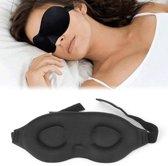 3D Comfort Deluxe Memory Foam Reis Slaapmasker - Travel Slaap Oogmasker Traagschuim - Zwart
