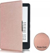 Kobo Aura H2O; Slimfit Shell Sleep Cover, Premium Business Case, Rosé Gold/ Gouden Slim Fit Hoes, sleepcover, rose goud , merk i12Cover