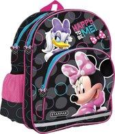 Minnie Mouse Rugzak – schooltas - kinderen – meisjes – 38 x 30 x 17 cm – zwart/roze