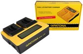 PATONA Dual LCD USB Charger for GoPro AHDBT-401 Hero4 Black Edition AHDBT-401 Hero5 Black