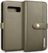 Samsung Galaxy S10 Leren 2-in-1 Bookcase en Back Cover Hoesje Groen