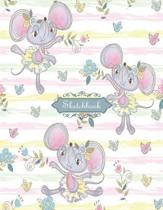 Sketchbook: Cute rats Ballet dance Sketchbook for Girls: 110 Pages of 8.5''x 11'' Blank Paper for Drawing, Doodling or Sketching (Sk