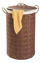 WENKO Wasmand Bamboo donkerbruin - 55 l