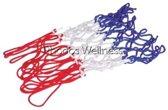 Basketbalnet - rood/wit/blauw - voor alle ringen