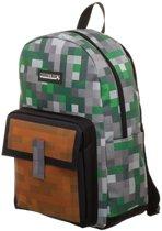 Minecraft - Backpack - rugzak - Groen - Grijs - 44 cm