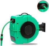 BT-Tools Wandslangenbox met automatisch oprollen en 20 meter tuinslang