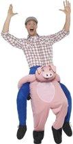 Instap dierenpak kostuum varken voor volwassenen - varkenspak