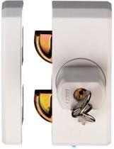 Abus raamslot  wit gelijksluitend FTS 96 W, met knop afsluitbaar. Geschikt voor naar alle naar binnen draaiende rechtse en linkse ramen en deuren. (schuif/dubbele en heveldeuren)  Te gebruiken op hout, kunststof en metaal. Slotkast 18 mm breed.