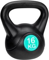 Avento Kettlebell - 16 kg - Zwart/Groen