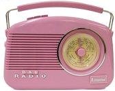 retro radio DAB draagbaar Dorset roos