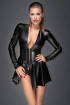 Wetlook Jurk met corset lijfje - XL