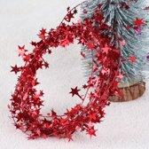 Rood Lint - Versiering - Decoratie - Slinger - Kerst - Bruiloft - Ster - Krans - 7,5 meter - Rood - 1 Stuk