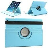 iPad Air 1 360 Graden Draaibaar Hoesje Case Hoes Cover - Licht Blauw