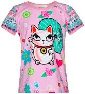 Mim-pi Meisjes T-shirt - Roze - Maat 128
