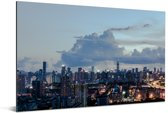 Mooie wolken boven de Chinese stad Shenzhen Aluminium 30x20 cm - klein - Foto print op Aluminium (metaal wanddecoratie)