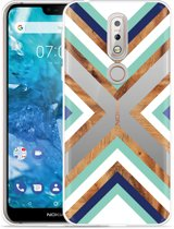 Nokia 7.1 Hoesje Wood Art