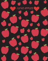 I Love Apples Journal Notebook Planner Memo Book Diary 8.5 X 11 (150 Pages)