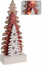 Kerstboom decoratief design met 7 ledlampjes - 40 cm