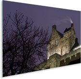 Het kasteel van Edinburgh in de avond Plexiglas 180x120 cm - Foto print op Glas (Plexiglas wanddecoratie) XXL / Groot formaat!