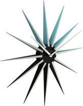 NeXtime Nova - Klok - Rond - Kunststof - Ø50 cm - Zwart